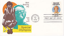 1979 FIRST DAY COVER FDC SPECTRUM CACHET SPECIAL OLYMPICS SKILL SHARING JOY