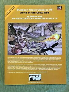 Dungeon Crawl Classics - #5 Aerie of the Crow God Goodman d20 1st print