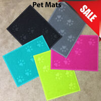 Square PVC Placemat Dog Puppy Pet FeedingCat Dish Bowl Food Water Mat Wipe Clean