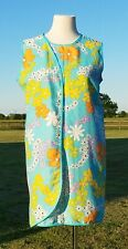 1960s Vintage Wrap Around Dress 3 Armhole Dress Wrap Sak by Barry Mod Groovy Fab