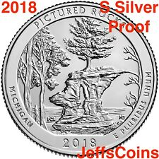 2018 S Pictured Rocks Lakeshore 90% Silver Proof Park Quarter Michigan ATBUSMint
