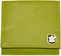 Leder Geldbörse WIENER SCHACHTEL Limone mit RFID  Geldbeutel Portemonnaie grün
