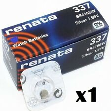 Renata 337 Watch Batteries x1 Swiss Made Cell Button Sil-Oxide 1.55v SR416SW