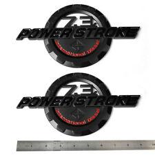 2x OEM 7.3L Black POWER STROKE International Fender Emblems F Ford F250 F350 Red