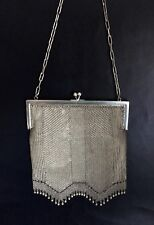 French Antique Lady's Silk Lined Mesh Evening Bag - Fashion Accessories