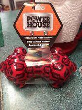 Power House Dog Toy Bone Bounces Durable