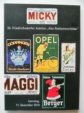 """24. Auktion """"Alte Reklameschilder"""" Micky Waue"""