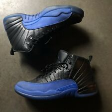 Men's Nike Air Jordan 12 XII Retro Black Game Royal Blue Sz 11.5 (130690-014)