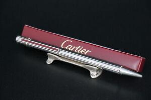 Cartier Vintage Rare Trinity Bordeaux Silver Ballpoint pen #C41