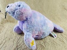 "Pillow Pet Glow Pet Purple/Pink Seal Magical Night Light Pal Works Great 18"""