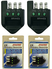2 NEW SEASENSE VEHICLE 4-WAY FLAT TRAILER LIGHTS CIRCUIT TESTERS,TROUBLE SHOOTER