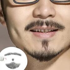 NUEVO Artificial Barba Hombre bigote Palabra 100% Pelo Natural Completo MANO DC