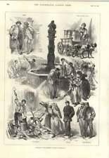 1893 SCHIZZI strade Berna Svizzera a spaccare la legna per pulizia strade dogcart