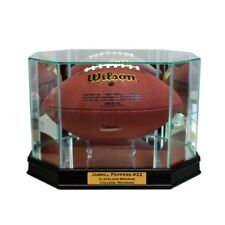 New Jabrill Peppers Glass and Mirror Football Display Case UV