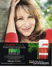 PUBLICITE ADVERTISING 045  2008   GARNIER  cosmétiques NATHALIE BAYE