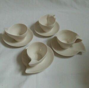 ❀ڿڰۣ❀ JERRY CY LU Four 3,CO DESSERT CAPPUCCINO ESPRESSO Cups & Plates ❀ڿڰۣ❀