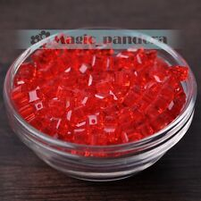6/8/10mm Glass Czech Style Cube Square Crystal Faceted Loose Spacer Beads