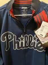 New listing PHILADELPHIA PHILLIES MLB STITCHED Track Zip Up JACKET Mens XL NEW w/ TAG