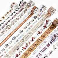 Retro Alte Zeiten Washi Masking Tape Wohnkultur Papierband Handwerk Paket d Q3E0