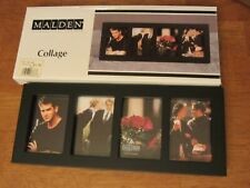 NEW-Malden Wood Photo Frame- Black- Collage -Holds Four Photos