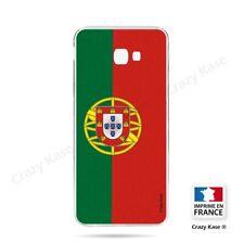 Coque pour Samsung Galaxy J4 Plus souple Drapeau Portugais
