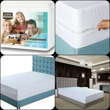 Mattress Cover Zippered Bed Bug Protector Box Spring Encasement Mites Twin XL