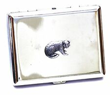 Cheetah Africa Cigarette Case Tin Ladies or Gents Gift FREE ENGRAVING Gift Boxed