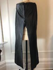 Vintage Wilsons Pelle Studio Women's Black 100 % Leather Pants Lined Size 8