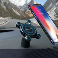 Multifunctional Wireless Car Charger Magnetic Phone Holder Qi Fast Charge Pad