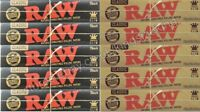Raw King Size Black And Classic Rolling Papers Hemp Kingsize Paper 10 Booklets