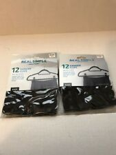 REAL SIMPLE SOLUTIONS Set of 2 Packages of 12 Each Hanger Clips NEW