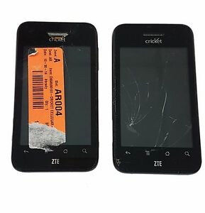 2 Lot ZTE Score X500 Cricket Android Smartphone Cricket CDMA Touch Screen Used