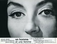 ANOUK AIMEE UN HOMME ET UNE FEMME 1966 VINTAGE LOBBY CARD #20