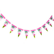 1pc Flamingo Banner Baby Shower Paper Banner Kids Birthday Party Decor Flag M&C