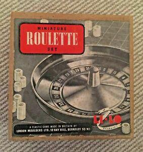 Vintage Li-Lo Product - Miniature Bakalite Roulette Set with Original Box, rules