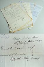 10 engl. Dokumente 1867-1880; MARINE-Karriere H.H.G.C. Massy; signed GOODENOUGH
