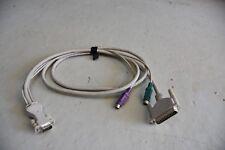 KVM Kabel/Cable, 25-Pol Sub-D auf VGA und PS/2 Maus+Tastatur, ca. 2m