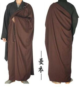 Shaolin Monk Dress Zen Buddhist Kesa Priest Cassock Robe Meditation Kung Fu Suit