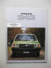 Volvo 343 prestige brochure Prospekt text Dutch 24 pages 1978
