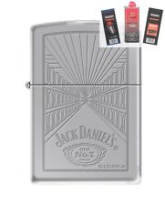 Zippo 5413 Jack Daniels Old #7 Lighter + FUEL FLINT & WICK GIFT SET