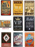 Metal Tin Sign Beer Happy Hr Alcohol Wall Decor Home Art Poster Bar Pub Club