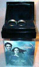 TWILIGHT ECLIPSE Edward/ Bella MARRY ME/CHANGE ME RING SET  Cullen Swan Sz 7 &10