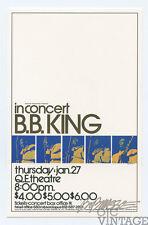 B.B. King Handbill 1972 Jan 27 Vancouver Canada Bob Masse
