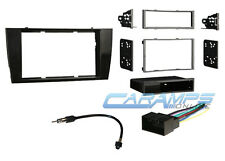 JAGUAR BLACK CAR STEREO COMPLETE RADIO INSTALLATION TRIM KIT W/ WIRING HARNESS