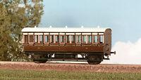 Ratio 610 GWR 4 Wheel Coach 3rd Class, 5 Compartments 00 Gauge Plastic Kit -T48P