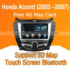 Car Dash DVD Player GPS Navigation Radio Bluetooth for Honda Accord (2003 -2007)