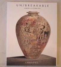 CHRISTIES CATALOGUE UNBREAKABLE GREYSON PERRY RIE COPER LEACH FONTANA ++