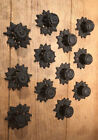 """Rustic Leaf Cast Iron Drawer Pulls 3"""" wide (Case of 12) Home Decor 0184-0058A"""