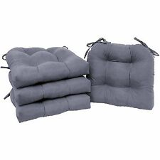 Chair Cushion SET of 4 Pad Seat Patio Outdoor Garden Dining Furniture Yard Gray