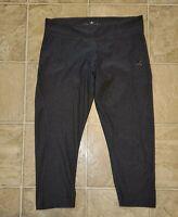 adidas sz M Women's Climalite Capri Pants Black E5